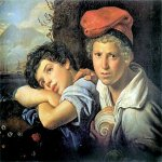 Orest Adamovich Kiprenskii (1778-1836)   Neapolitan boys fishermen. After Fishing  Oil on canvas, 1829  The State Russian Museum, St. Petersburg, Russia
